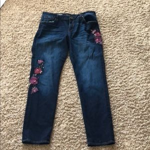 Kut From the Kloth size 12 embroidered jeans